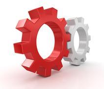 Stock Illustration of Gearwheels