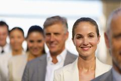 Business team in a line - stock photo