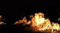 4K igniting fire isolated. Alpha matte from black background. UHD stock video Stock Footage