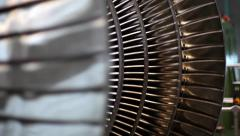 Power Steam Turbine Rotates at the Plant 06 Stock Footage