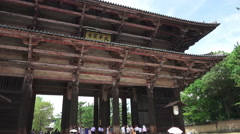 The Main Gate Into The Tōdai-ji Temple Nara Japan Stock Footage