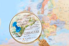 Looking in on Gibraltar, United Kingdom - stock photo