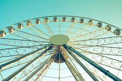 ferris wheel against - stock photo