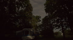 Overnight time-lapse of a Camper Stock Footage