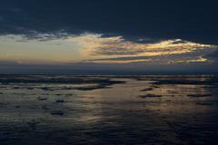 Boat wake on polar sea Kuvituskuvat