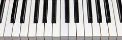 Stock Photo of piano keys closeup as background