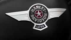 Harley Davidson emblem Stock Footage