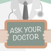 Ask your Doctor - stock illustration