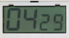 Timer counting down, five minutes Stock Footage