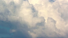 Large fluffy cumulus clouds Stock Footage