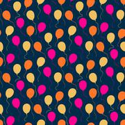 Holiday pattern with balloons Stock Illustration