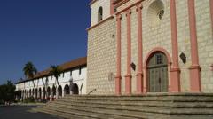 View of Mission Santa Barbara in Santa Barbara Stock Footage