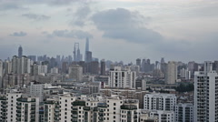Shanghai timelapse pudong from residential area apartment buildings. Stock Footage