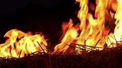 4K Fire flame close up. UHD stock video - stock footage