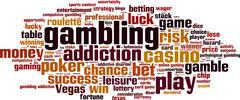 Gambling word cloud Stock Illustration