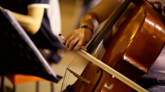 Playing the cello in a music festival Arkistovideo