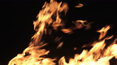4K Explosion fire LOOP. Alpha matte from black background. UHD stock video Stock Footage