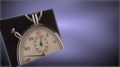 Stopwatch inset on lavender background Stock Footage