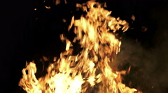 4K Fire burning loop. Alpha matte from black background. UHD stock video - stock footage