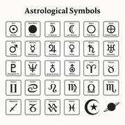 Astrological Symbols - stock illustration