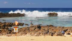 Shark cove hawaii Stock Footage