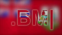 BM - Internet Domain of Bermuda Stock Footage