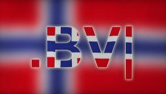 BV - Internet Domain of Bouvet Island Stock Footage