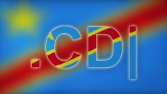CD - Internet Domain of Congo (Kinshasa) Stock Footage
