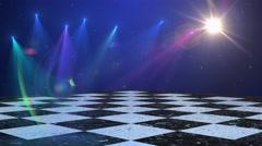Disco dance floor background Stock Footage