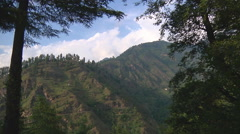 Mountains in Kullu valley at Naggar in Himachal Pradesh, India. Stock Footage