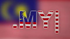 MY - Internet Domain of Malaysia Stock Footage