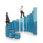 The ladder of success - stock photo