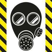 gas mask - stock illustration