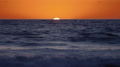Sunset with Green Flash Stock Footage
