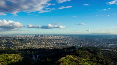 HD Downtown Los Angeles And Griffith Observatory Timelapse Stock Footage