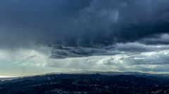 HD Hollywood Hills Rainfall And Dark Clouds Timelapse Stock Footage