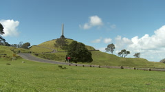 Auckland - People Walking at One Tree Hill Stock Footage