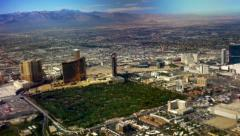 Aerial view over Las Vegas, Day, 4K Stock Footage