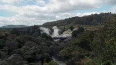 Tauranga - Pohutu Geyser Wide Shot Stock Footage
