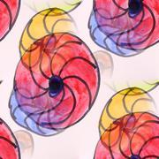 Stock Illustration of seamless Colour flowers watercolor artist wallpaper modern textu