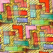 seamless Colour squares watercolor artist wallpaper modern textu - stock illustration