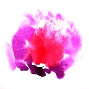 paint  splash  ink lilac, pink blot and white  abstract art brus - stock illustration