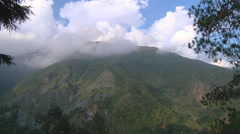 Mountains and clouds at Dharamshala in Himachal Pradesh, India Stock Footage