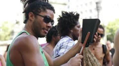 Street Carnival of Rio de Janeiro # 21 Stock Footage