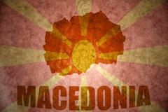 Stock Photo of vintage macedonia map