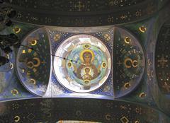 New Aphon monastery. Abkhazia Stock Photos