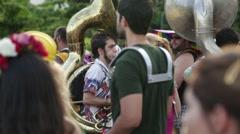 Street Carnival of Rio de Janeiro # 16 Stock Footage