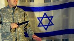 Israeli combat knife training 1 Stock Footage