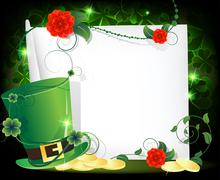 Leprechaun hat entwined with ivy Stock Illustration
