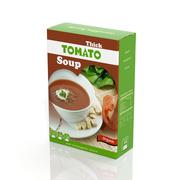 3D tomato soup paper package isolated on white - stock illustration